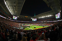 2nd February 2020, Miami Gardens, Florida, USA;  A general view of Hard Rock Stadium during the National Anthem prior to Super Bowl LIV on February 2, 2020 at Hard Rock Stadium in Miami Gardens