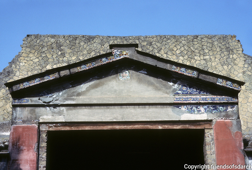 Italy: Herculaneum--House of Stags, Doorway to inner courtyard. Photo '83.