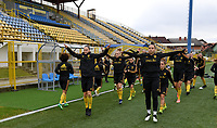 20191107 - Zapresic , BELGIUM : illustration picture shows the players with Elke Van Gorp and Nicky Evrard during a Matchday -1 training session before a  female soccer game between the womensoccer teams of  Croatia and the Belgian Red Flames , the third women football game for Belgium in the qualification for the European Championship round in group H for England 2021, Thursday 7 th october 2019 at the NK Inter Zapresic stadium near Zagreb , Croatia .  PHOTO SPORTPIX.BE | DAVID CATRY