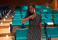 L'attivista per i diritti umani e storyteller Clementine Wamariya, sopravvissuta al genocidio del Ruanda, durante un incontro all'Universita' LUMSA, Roma, 4 maggio 2017.<br /> Survivor of Rwandan genocide, human rights activist and storyteller Clementine Wamariya attends a meeting at the LUMSA University, Rome, 4 May 2017.<br /> UPDATE IMAGES PRESS/Riccardo De Luca L'attivista per i diritti umani e storyteller Clemantine Wamariya, sopravvissuta al genocidio del Ruanda, durante un incontro all'Universita' LUMSA, Roma, 4 maggio 2017.<br />