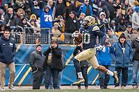 Pitt wide receiver Quadree Henderson scores on a 66-yard touchdown run. The Pitt Panthers defeated the Syracuse Orange 76-61 at Heinz Field in Pittsburgh, Pennsylvania on November 26, 2016.