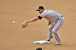 20 May 2012: Baltimore Orioles infielder J. J. Hardy in action against the Washington Nationals at Nationals Park in Washington, DC. The Nationals defeated the Orioles 9-3 to salvage the third game of their 3-game series. Mandatory Credit: Ed Wolfstein Photo