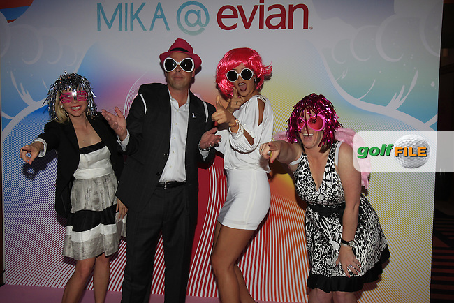 Michelle Wie and LPGA staff at the Live Young party with special guest Mika held after the Gala Dinner to celebrate the 20th anniversary of the Evian Championship at the Hotel Royal after Saturday's Round 3 of The Evian Championship 2014 held at the Evian Resort Golf Club, Evian-les-Bains, France.: Picture Eoin Clarke, www.golffile.ie: 13th September 2014