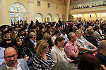 Audience at graduation ceremony, Goldsmiths College, University of London, England, UK