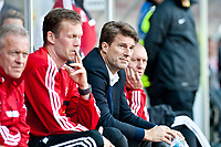 Saturday 19 October 2013 Pictured: Michael Laudrup, Manager of Swansea City<br /> Re: Barclays Premier League Swansea City vSunderland at the Liberty Stadium, Swansea, Wales