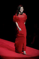 2/13/09 - Photo by John Cheng.  Brittany Snow walks down the runway at the Red Dress Collection Fashion Show in Bryant Park, New York.  February is National Heart Month, and the fashion show is part of the month-long activities to raise women?s heart disease awareness.