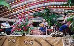 Great voices and guitars-not to mention the beautiful stage.  They play on the weekends at Aggie Grey's Hotel in Apia, Samoa.