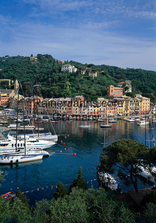 Italy, Liguria, Italian Riviera, Portofino: exclusive resort at the Golfo di Genova