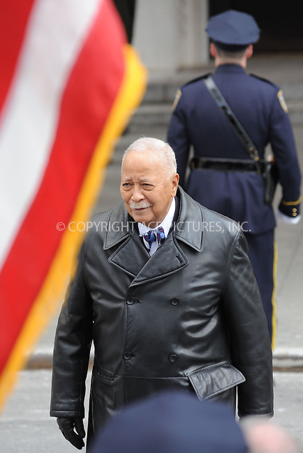 WWW.ACEPIXS.COM . . . . . .February 4, 2013...New York City....David Dinkins following funeral services at Manhattan's Temple Emanu-El on February 4, 2013 in New York City.....Please byline: KRISTIN CALLAHAN - WWW.ACEPIXS.COM.. . . . . . ..Ace Pictures, Inc: ..tel: (212) 243 8787 or (646) 769 0430..e-mail: info@acepixs.com..web: http://www.acepixs.com .