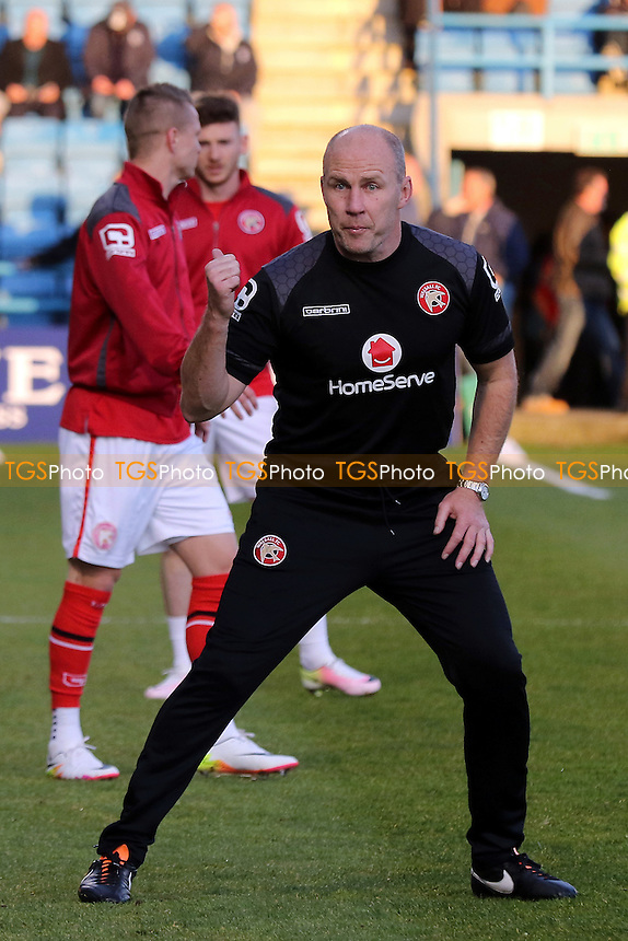 Walsall Interim Manager, Jon Whitney pre-match during Gillingham vs Walsall, Sky Bet League 1 Football at the MEMS Priestfield Stadium on 12th April 2016