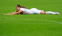 Alex Morgan of team USA reacts during the FIFA Women's World Cup at the FIFA Stadium in Moenchengladbach, Germany on July 13th, 2011.