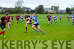 At  Junior League Rugby Division III Tralee V  Ennis at O'Dowd Park on Sunday. Kevin O'Shea on his way to a try
