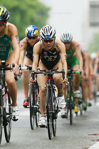 Juri Ide (JPN), <br /> MAY 16, 2015 - Triathlon : <br /> 2015 ITU World Triathlon Series Yokohama <br /> Women's Elite <br /> in Yokohama city, Kanagawa, Japan. <br /> (Photo by YUTAKA/AFLO SPORT)