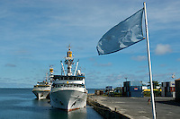 COMMERCIAL FISHING TRAWLERS <br /> IN POHNPEI HARBOR MICRONESIA
