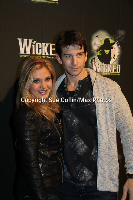 Orfeh & husband Andy Karl - The blockbuster musical, Wicked, celebrates its 10th Anniversary on Broadway, a milestone achieved by only ten other Broadway productions in history on October 30, 2013 at the Gershwin Theatre, New York City followed by the red carpet at the Edison Ballroom with current, alumni and creative team.  (Photo by Sue Coflin/Max Photos)