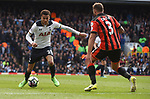 Dele Alli-Tottenham & Steve Cook-Bournemouth during the English Premier League match at the White Hart Lane Stadium, London. Picture date: April 15th, 2017.Pic credit should read: Chris Dean/Sportimage