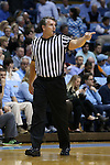 16 December 2015: Referee Doug Shows. The University of North Carolina Tar Heels hosted the Tulane University Green Wave at the Dean E. Smith Center in Chapel Hill, North Carolina in a 2015-16 NCAA Division I Men's Basketball game. UNC won the game 96-72.