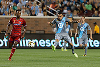 Minneapolis, MN - Saturday September 23, 2017: Minnesota United FC played FC Dallas in a Major League Soccer (MLS) game at TCF Bank stadium. Final score Minnesota United 4, FC Dallas 1