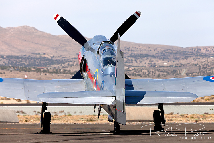 "Hawker Sea Fury ""Dreadnought"" on the ramp at the 2012 Reno National Championship Air Races."