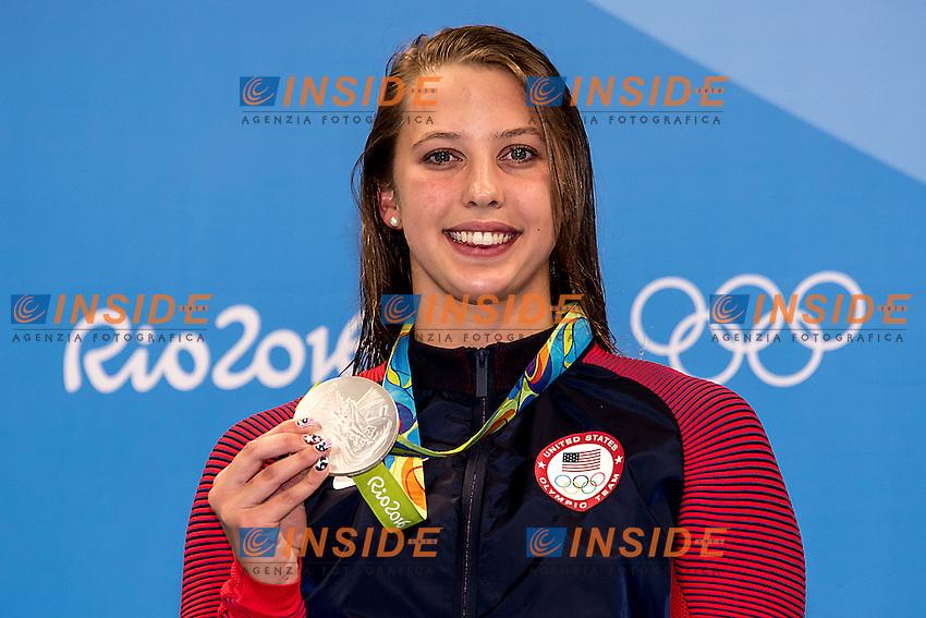 Baker Kathleen USA silver<br /> 100 backstroke women <br /> Rio de Janeiro  XXXI Olympic Games <br /> Olympic Aquatics Stadium <br /> swimming finals 08/08/2016<br /> Photo Giorgio Scala/Deepbluemedia/Insidefoto