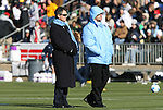 07 December 2008: UNC head coach Anson Dorrance (left) with assistant coach Bill Palladino (right). The University of North Carolina Tar Heels defeated the Notre Dame Fighting Irish 2-1 at WakeMed Soccer Park in Cary, NC in the championship game of the 2008 NCAA Division I Women's College Cup.