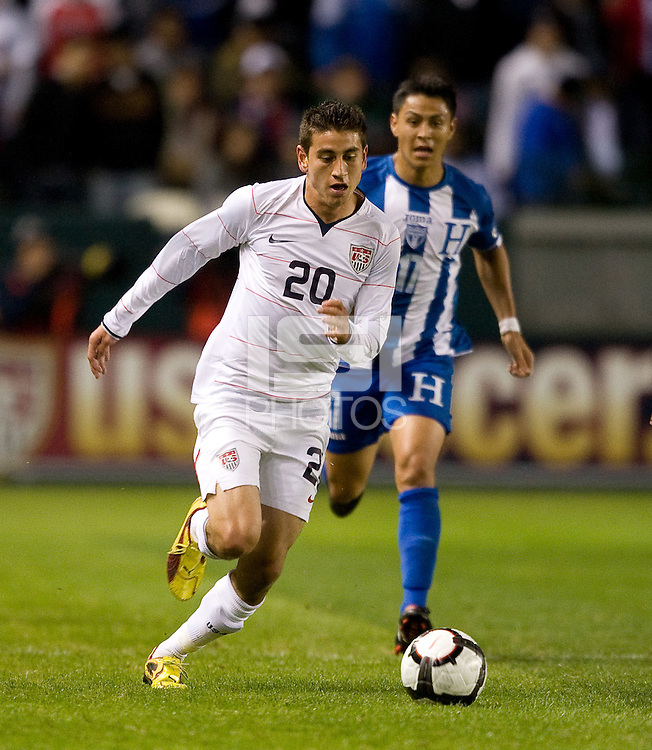Alejandro Bedoya.USA vs Honduras, Saturday Jan. 23, 2010 at the Home Depot Center in Carson, California. Honduras 3, USA 1.