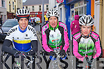 Cathal Moynihan Tralee, Matt Slattery and Brendan Cassidy Killarney who competed in the Rás Mumhan in Killorglin on Friday .