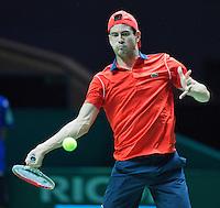 Februari 12, 2015, Netherlands, Rotterdam, Ahoy, ABN AMRO World Tennis Tournament,  Guillermo Garcia-Lopez (ESP) <br /> Photo: Tennisimages/Henk Koster
