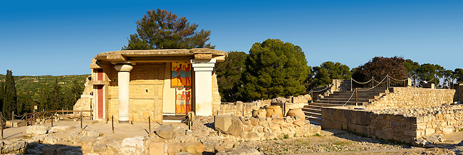Arthur Evans reconstruction of  the South Propylaeum Knossos Minoan archaeological site, Crete