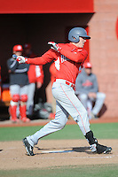 University of Houston Cougars outfielder Kyle Survance (34) during game game 2 of a double header against the Rutgers Scarlet Knights at Bainton Field on April 5, 2014 in Piscataway, New Jersey. Houston defeated Rutgers 9-1.      <br />  (Tomasso DeRosa/ Four Seam Images)
