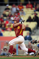 February 28 2010: Matt Hart of USC during game against UCLA at Dodger Stadium in Los Angeles,CA.  Photo by Larry Goren/Four Seam Images