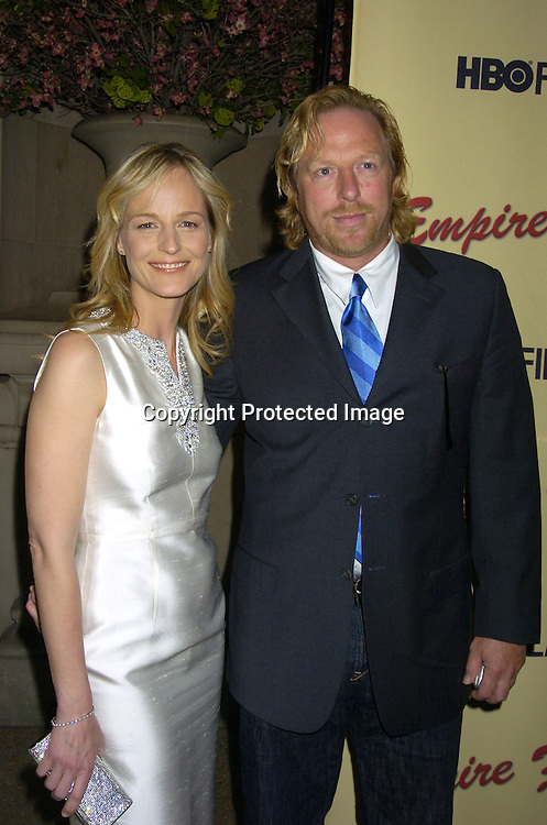 "Helen Hunt and boyfriend Matthew Carnahan ..at a screening of an HBO Film ""Empire Falls"" on ..May 9, 2005 at the Metropolitan Museum of Art. ..Photo by Robin Platzer, Twin Images"