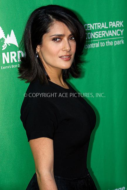 WWW.ACEPIXS.COM . . . . .  ....April 22 2010, New York City....Actress Salma Hayek arriving at Christie's Green Auction: A Bid to Save the Earth in midtown Manhattan on April 22, 2010, in New York. ....Please byline: NANCY RIVERA- ACEPIXS.COM.... *** ***..Ace Pictures, Inc:  ..Tel: 646 769 0430..e-mail: info@acepixs.com..web: http://www.acepixs.com