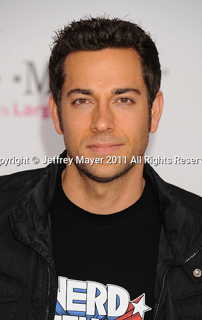 LOS ANGELES, CA - FEBRUARY 20: Zachary Levi arrives at the T-Mobile Magenta Carpet at the 2011 NBA All-Star Game at L.A. Live on February 20, 2011 in Los Angeles, California.