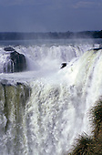 Iguassu, Brazil. The Iguassu falls from the Argentina side.
