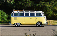 BNPS.co.uk (01202 558833)<br /> Pic: DavidBush/RMSothebys/BNPS<br /> <br /> A classic Volkswagen Camper van is set to sell for fifty times more than it cost new when it goes under the hammer. <br /> <br /> When it left the factory in 1963 this stylish Type 2 VW van only cost around &pound;2,000 but 55 years later it's tipped to fetch a whopping six figures. <br /> <br /> The dramatic increase in value is indicative of the booming market for hippie vans, which have remained a cult vehicle since the counterculture movement of the 1960s. <br /> <br /> The '23-Window' model will be sold by an American collector through auctioneer RM Sotheby's in Santa Monica tomorrow (Sat).