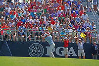 Brooks Koepka (USA) tees off on the first hole during the third round of the 100th PGA Championship at Bellerive Country Club, St. Louis, Missouri, USA. 8/11/2018.<br /> Picture: Golffile.ie | Brian Spurlock<br /> <br /> All photo usage must carry mandatory copyright credit (&copy; Golffile | Brian Spurlock)