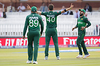 Shaheen Afridi (Pakistan) celebrates the wicket of Al Hasan during Pakistan vs Bangladesh, ICC World Cup Cricket at Lord's Cricket Ground on 5th July 2019