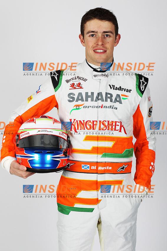 Formule 1: Test  Jerez 04/02/2013.PAUL DI RESTA (GBR) -SAHARA FORCE INDIA VJM06 - AMBIANCE PORTRAIT  .PILOTA Formula 1.Foto Gilles Levent / Panoramic / Insidefoto.ITALY ONLY