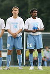 31 August 2008: UNC's Kirk Urso (18) and Sheanon Williams (20). The University of North Carolina Tar Heels defeated the Virginia Commonwealth University Rams 1-0 in overtime at Fetzer Field in Chapel Hill, North Carolina in an NCAA Division I Men's college soccer game.