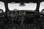 Stock photo of straight dashboard view of 2019 MINI Hardtop-2-Door John-Cooper-Works-Iconic 3 Door Hatchback Dashboard