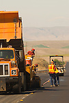 Oregon highway construction crew, Central Oregon