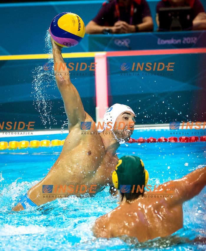 GIORGETTI Alex ITA.Italy Vs. Australia .Water Polo men preliminary Round.London 2012 Olympics - Olimpiadi Londra 2012.day 03 July 29.Photo G.Scala/Deepbluemedia.eu/Insidefoto