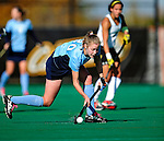 25 October 2009: Columbia University Lion backfielder Caitlin Mullins, a Junior from Garden City, NY, in action against the University of Vermont Catamounts at Moulton Winder Field in Burlington, Vermont. The Lions shut out the Catamounts 1-0. Mandatory Credit: Ed Wolfstein Photo