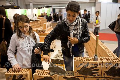 Genève, le 25.11.2009.Cité des métiers. Métier du bâtiment..© Le Courrier / J.-P. Di Silvestro