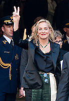 Sharon Stone visits the Polish parliament in Warsaw - Poland