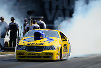 Jun. 15, 2012; Bristol, TN, USA: NHRA pro stock driver Jeg Coughlin during qualifying for the Thunder Valley Nationals at Bristol Dragway. Mandatory Credit: Mark J. Rebilas-