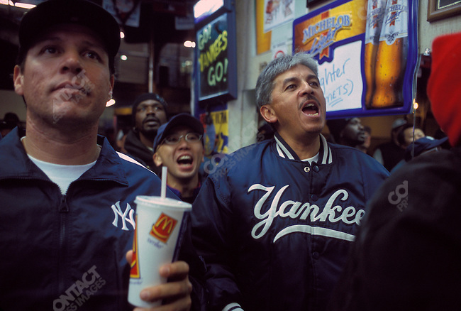 The New York Yankees play the New York Mets in a Subway Series World Series. Yankee Stadium, Bronx, NY. October 2000