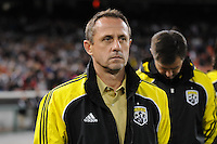 Columbus Crew Head Coach Robert Warzycha.   DC United defeated The Columbus Crew  3-1 at the home season opener, at RFK Stadium, Saturday March 19, 2011.