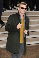 Jamie Campbell Bower arrives for the Burberry Prosum menswear AW14 as part of London Collections Men, Kensington Gardens, London.08/01/2014 Picture by: Steve Vas / Featureflash
